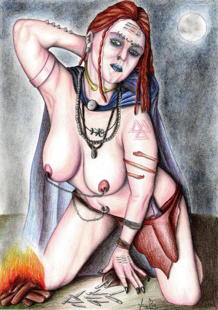 Morana the sorceress by thehoundofulster