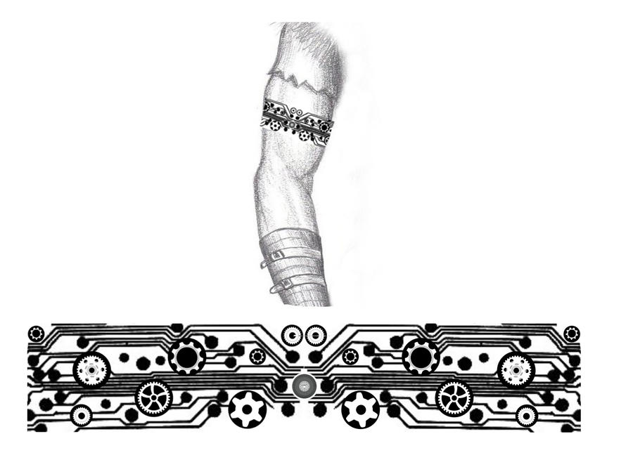 industrial steampunk arm band tattoo by thehoundofulster on deviantart. Black Bedroom Furniture Sets. Home Design Ideas