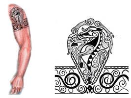Sarmatian tribal tattoo by thehoundofulster