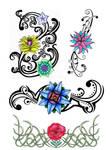 Tribal Floral Tattoo Designs