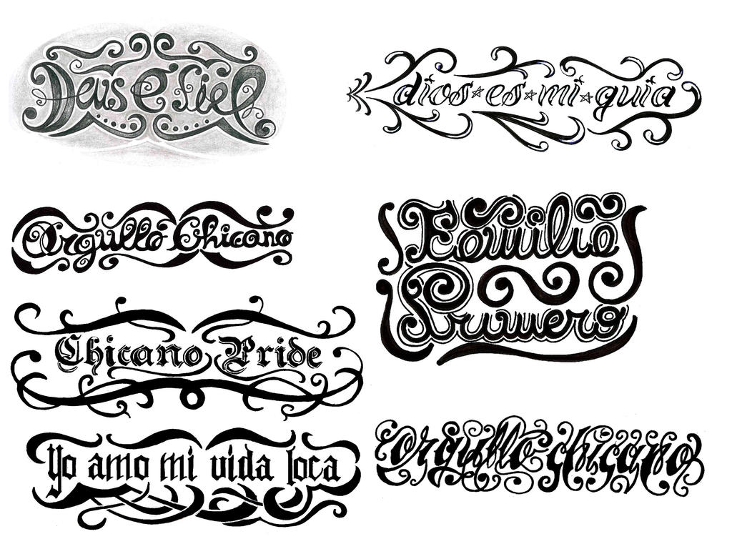 Lettering tattoo designs by thehoundofulster on DeviantArt
