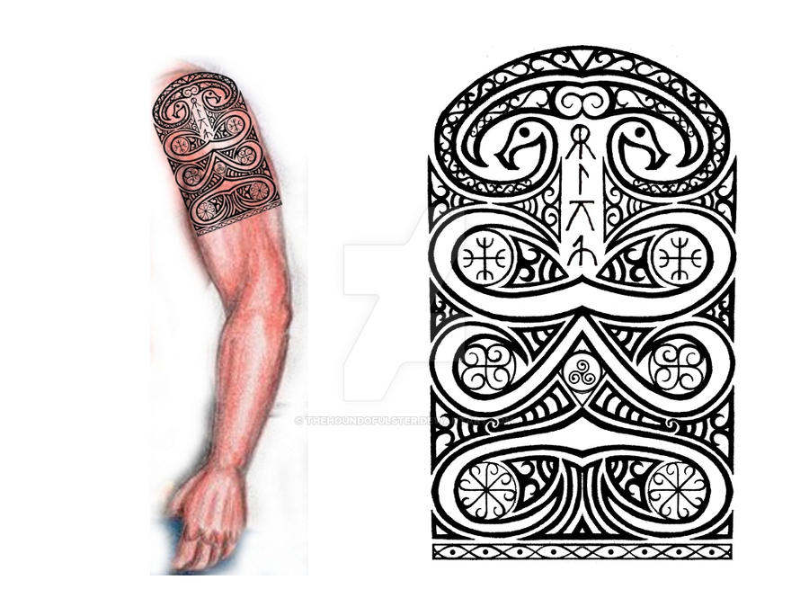 sarmatian shoulder arm tribal tattoo by thehoundofulster on deviantart. Black Bedroom Furniture Sets. Home Design Ideas