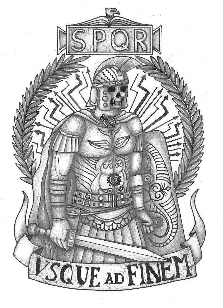 roman legionary tattoo by thehoundofulster on deviantart. Black Bedroom Furniture Sets. Home Design Ideas
