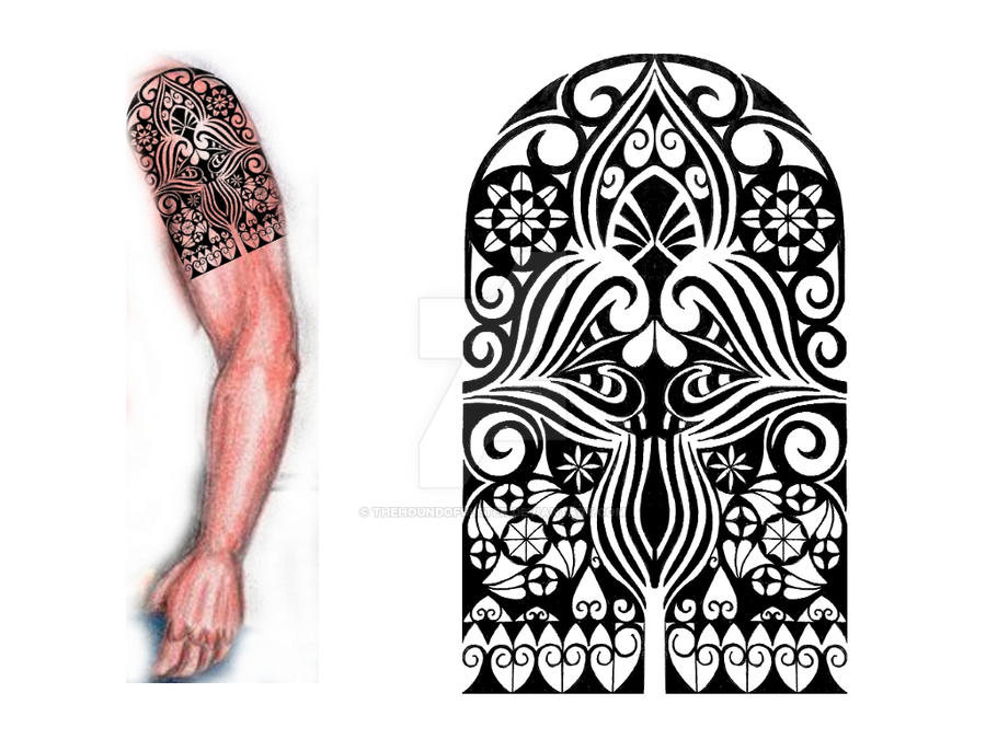 Gothic style tribal ta...