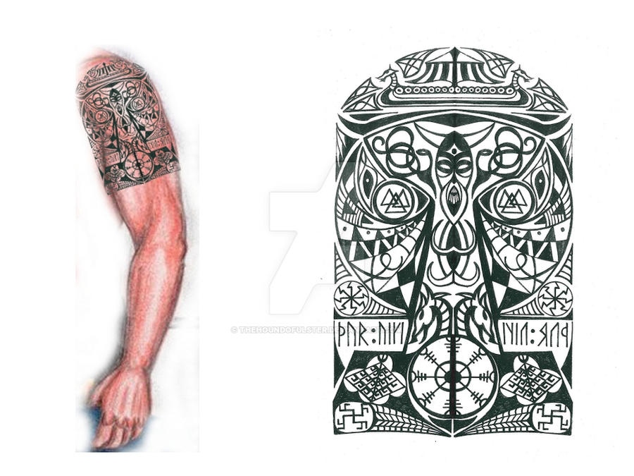 DeviantArt: More Like Thor's Hammer Viking tribal tattoo 2 by ...