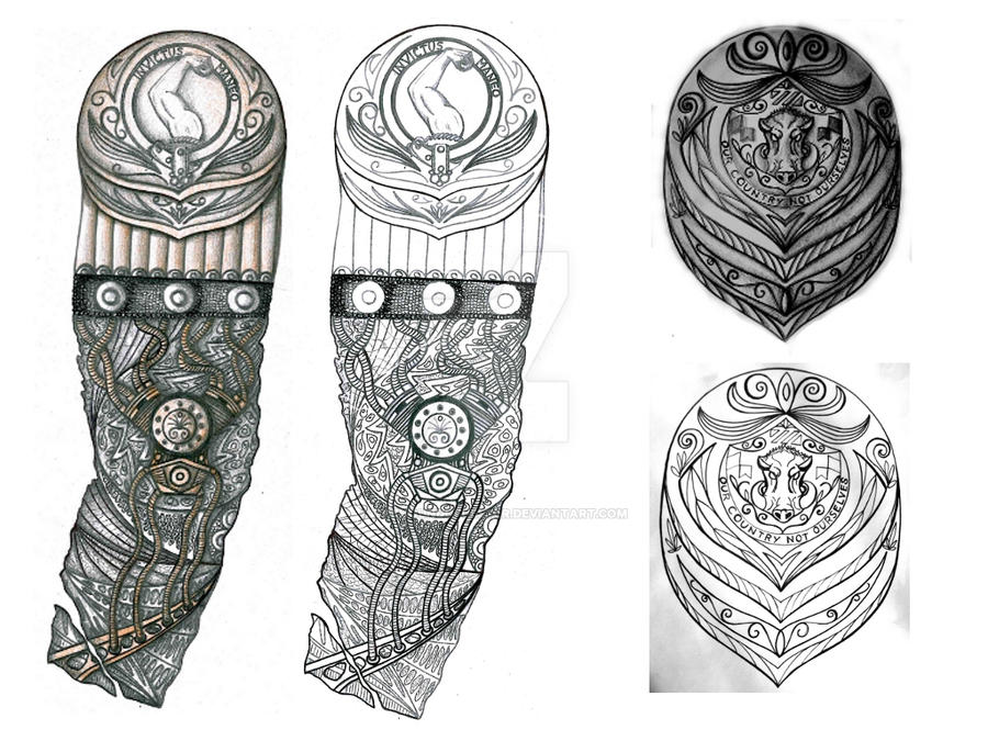 biomech and boar shield tattoo designs by thehoundofulster on deviantart. Black Bedroom Furniture Sets. Home Design Ideas