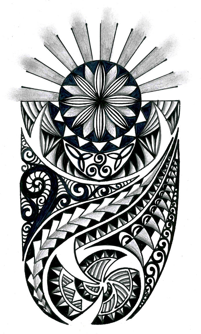 Polynesian tribal design with celtic elements by thehoundofulster