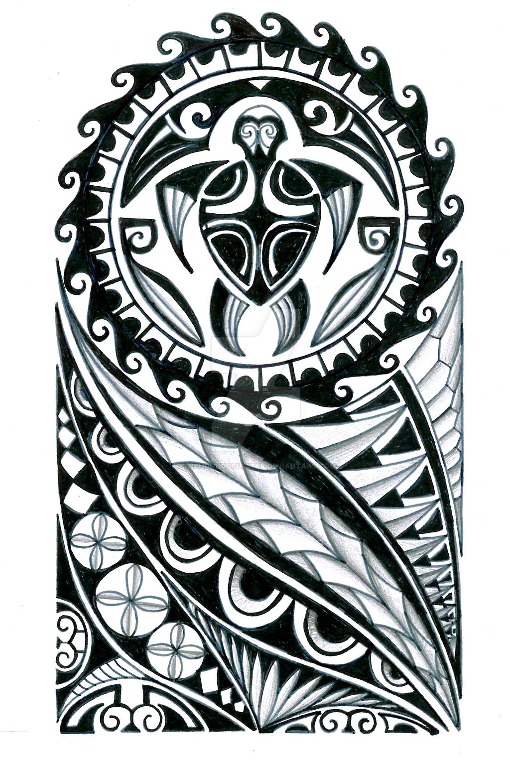 polynesian half sleeve tattoo design by thehoundofulster on deviantart. Black Bedroom Furniture Sets. Home Design Ideas