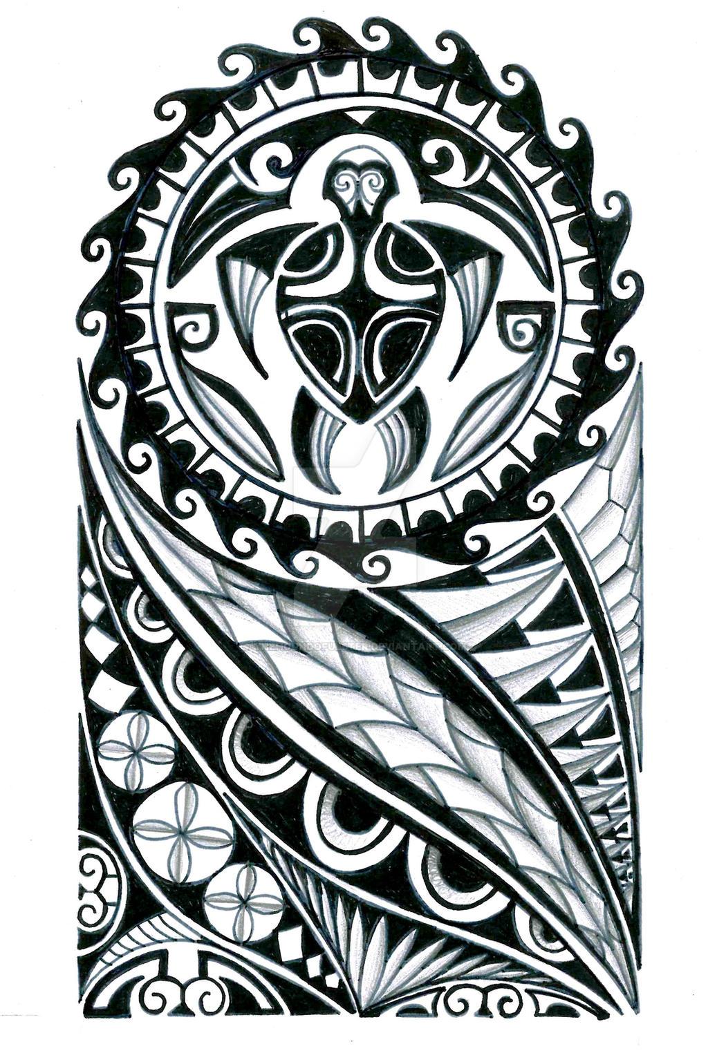 polynesian half sleeve tattoo design by thehoundofulster on deviantart. Black Bedroom Furniture Sets. Home Design Ideas