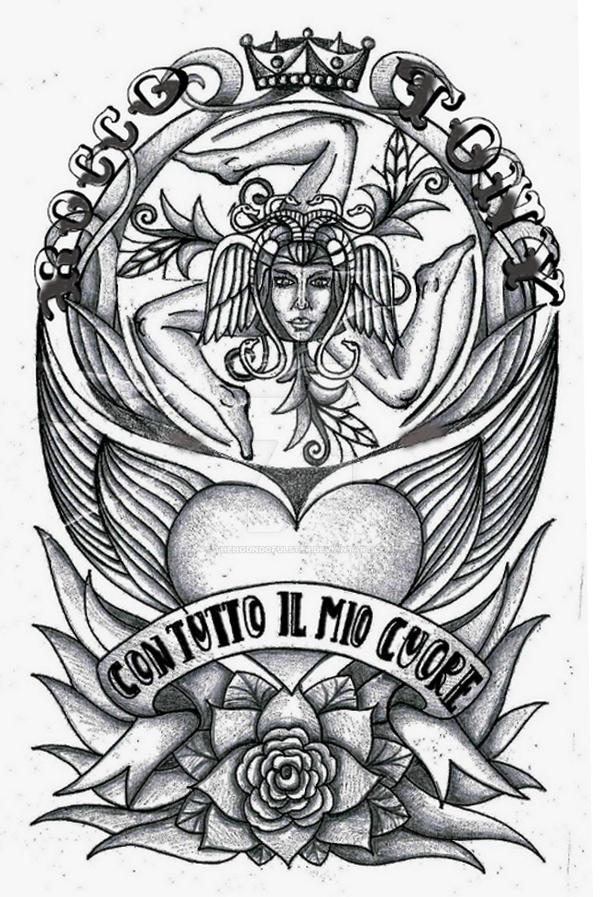 Trinacria Sicilian Symbol Tattoo By Thehoundofulster On Deviantart
