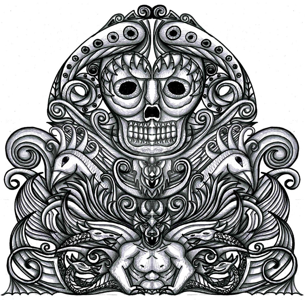 grotesque gothic tattoo design 2 by thehoundofulster on deviantart. Black Bedroom Furniture Sets. Home Design Ideas