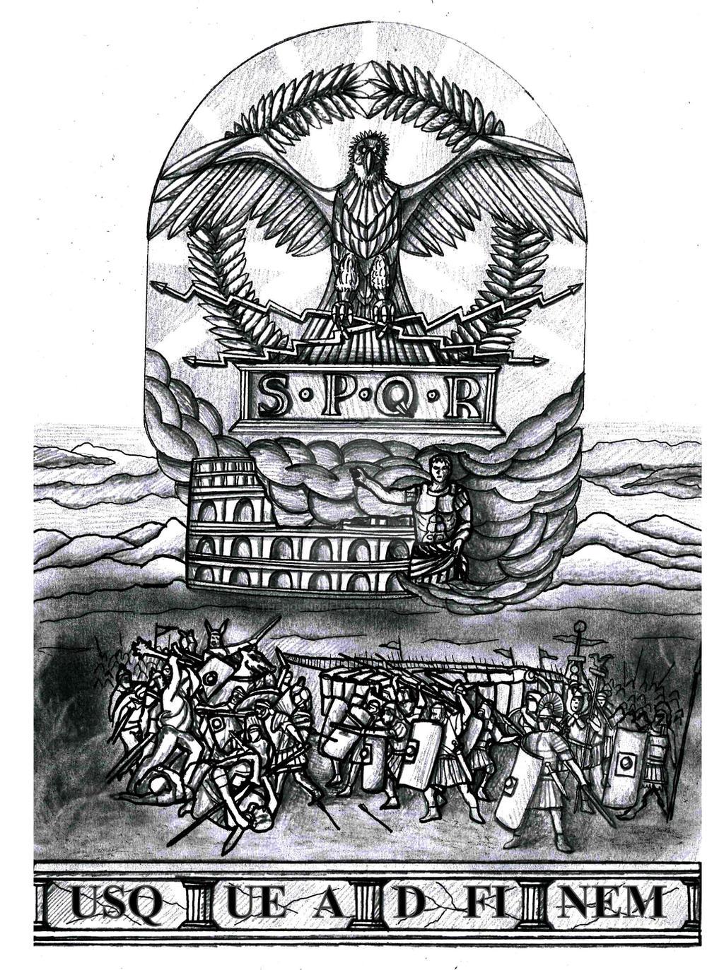 When Did The Spqr Tattoos Originate: SPQR Roman Empire Half Sleeve Tattoo By Thehoundofulster