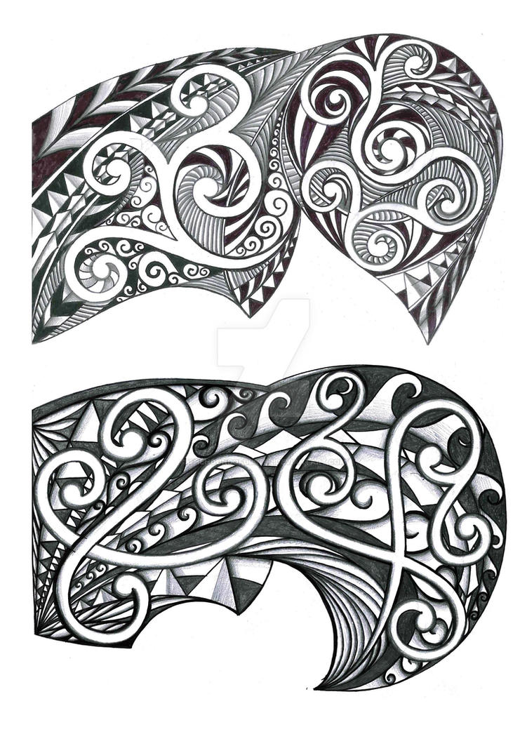 Tribal Designs for shoulder-pec by thehoundofulster