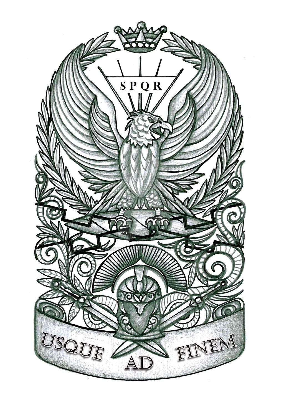 When Did The Spqr Tattoos Originate: Roman Eagle Tattoo By Thehoundofulster On DeviantArt