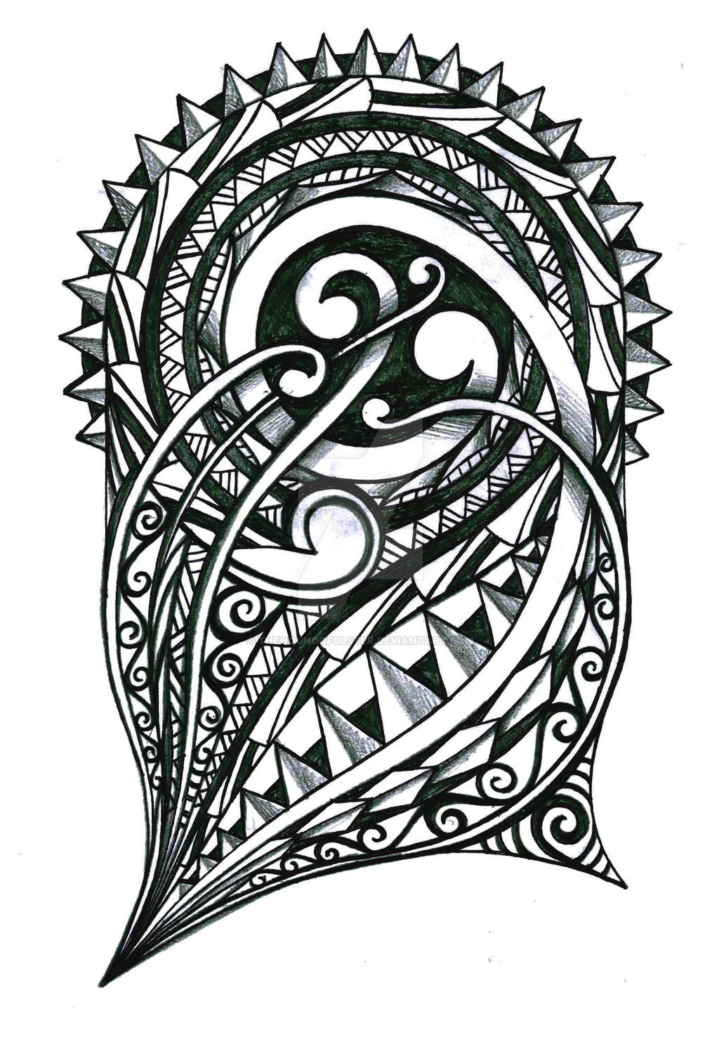 Tribal Half Sleeve By Thehoundofulster On Deviantart