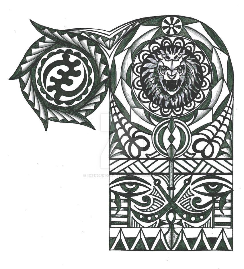 Warriors Tattoo Adinkra-page-001 by thehoundofulster