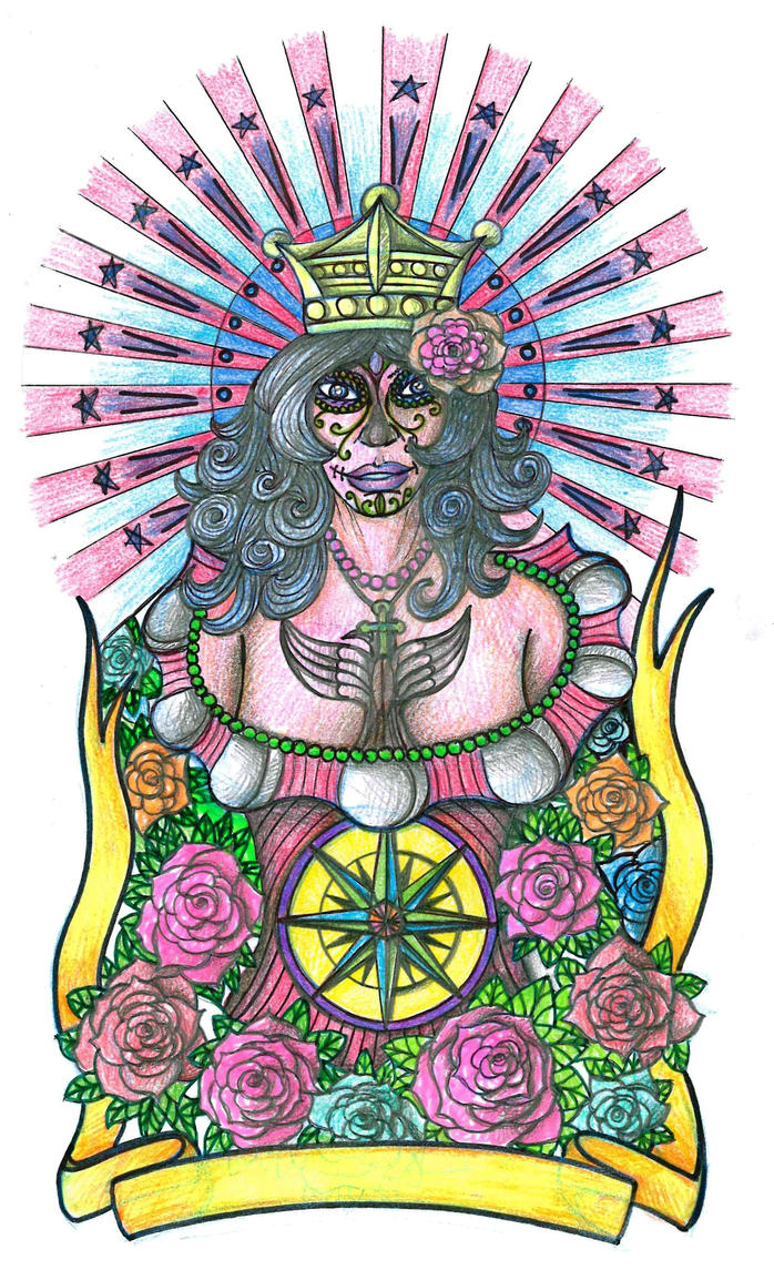 Day of the Dead Girl half sleeve by thehoundofulster