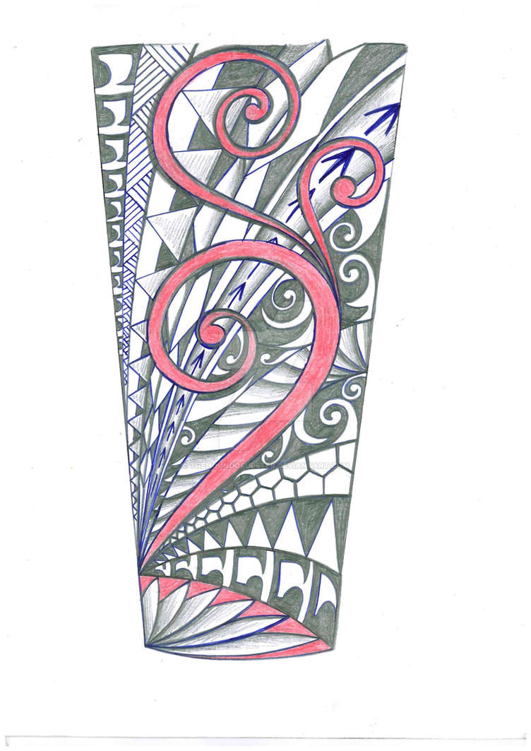 Polynesian tribal forearm tattoo by thehoundofulster on DeviantArt