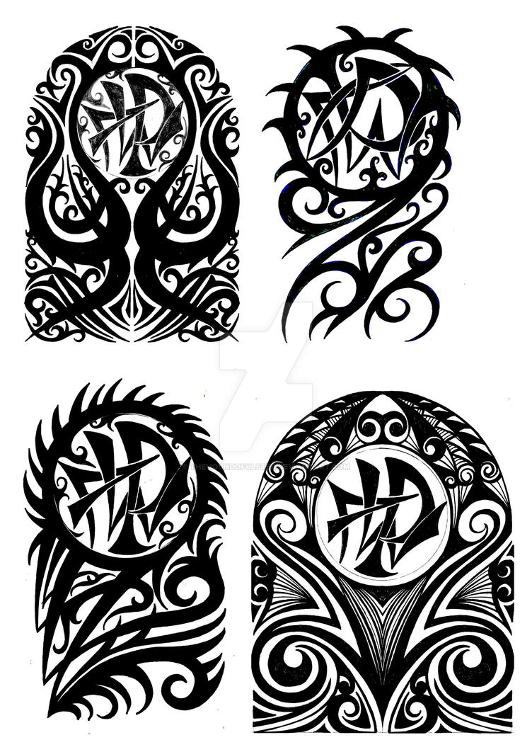 Tribal halfsleeve tattoo designs by thehoundofulster