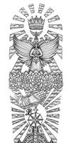 Religious Gates of Heaven tattoo design