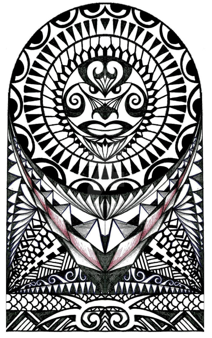 Polynesian Halfsleeve Tattoo Design By Thehoundofulster On Deviantart