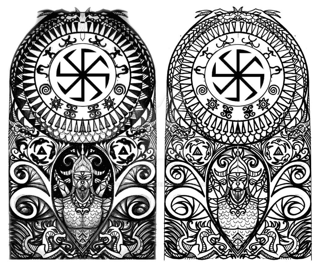 scythian tribal half sleeve tattoo by thehoundofulster on deviantart. Black Bedroom Furniture Sets. Home Design Ideas