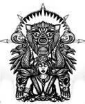 Dark Priestess half sleeve tattoo by thehoundofulster