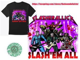 SLASHERALLICA version 2, Slash'em all - t-shirt