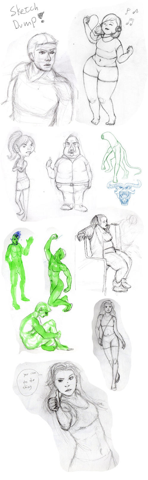 Sketch Dump 2 by GosterMonster