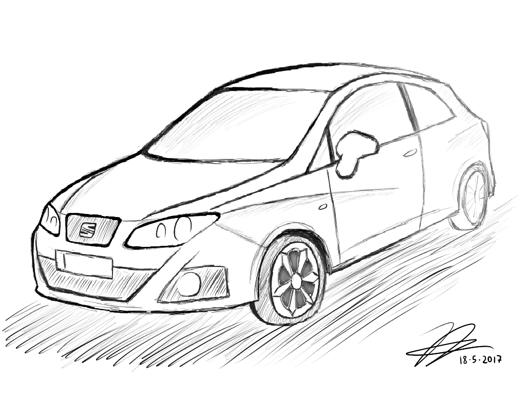 seat ibiza 6j1 sketch by jjuanjo55 on deviantart