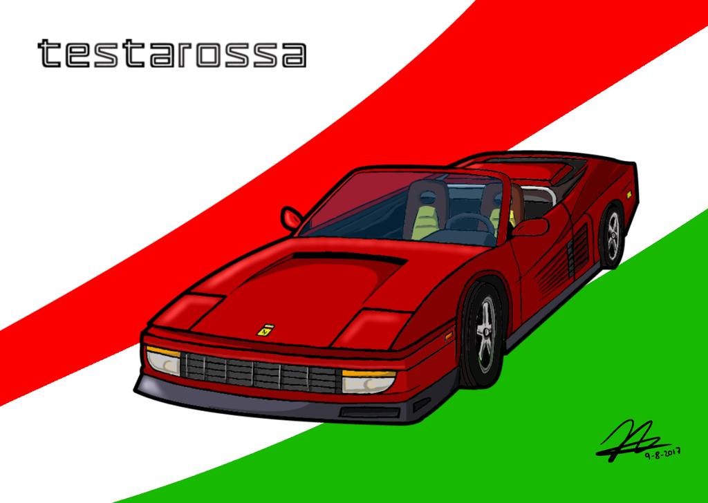 Ferrari Testarossa Convertible by JJuanjo55