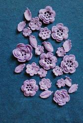 Irish lace crochet motifs