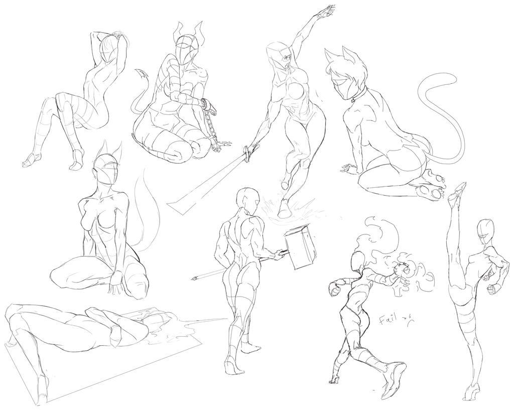 Fun with MOAR Anatomy practice! by PirateFoxBox on DeviantArt