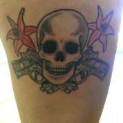 Skull, Guns and Lillies