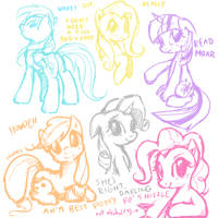 pony doodles by derpiihooves