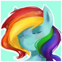Rainbow Portrait by derpiihooves