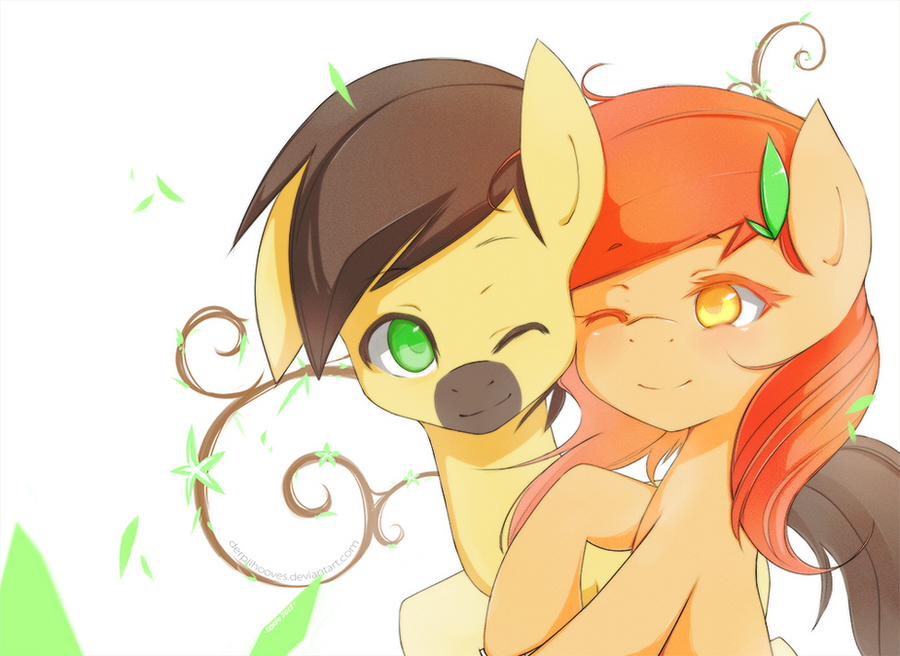 comm: Autumn Leaves and Calpain by derpiihooves
