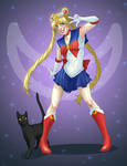 Sailor Moon and Luna 01 by 9ofcups
