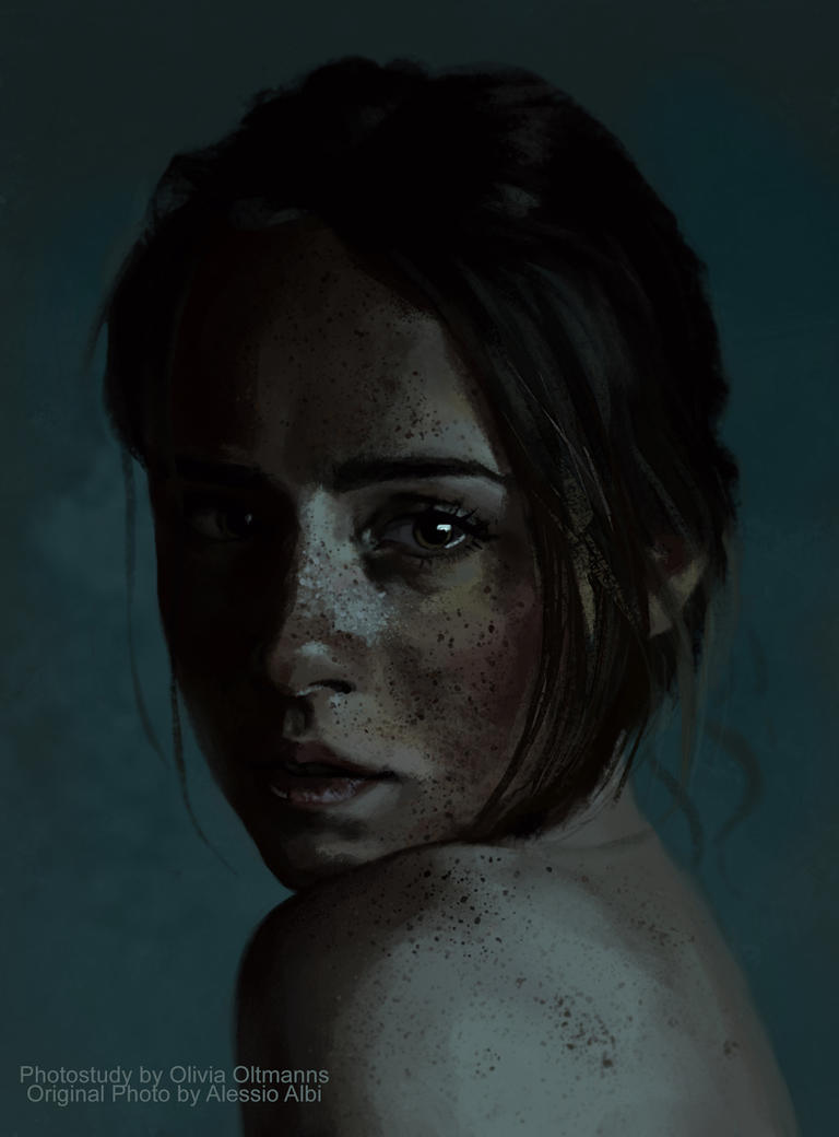 Photo Study:Girl with Freckles by TheNecco