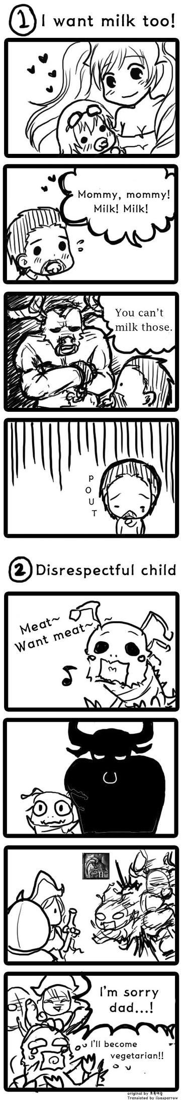 Lulu and Varus comic 1-2: Mommy or Daddy? by JackieDanielStark