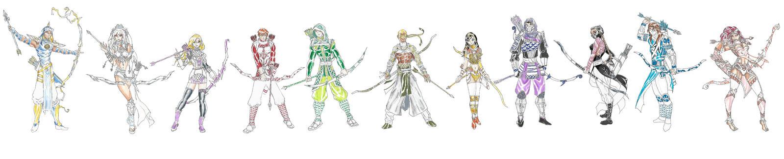 MDCU: Precious Archers 2 by Nightshade475