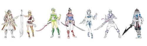 MangaDCCU: 7 Sea Samurai Swordsmen- Apprentices