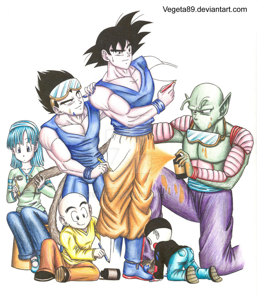 Drawing goku by vegeta89 on deviantart - Goku e bulma a letto ...