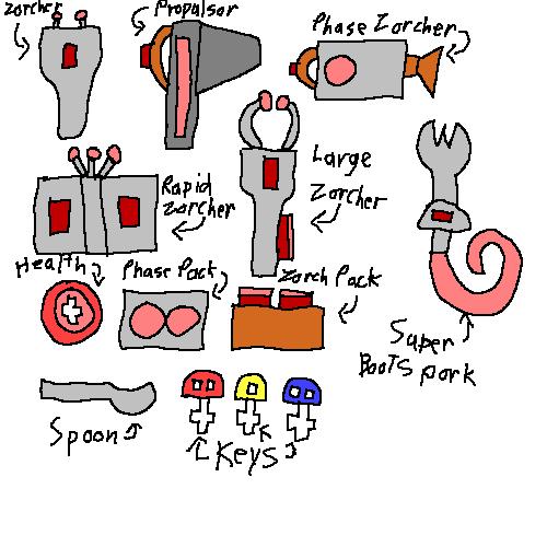 Misc Chex Quest Items by emilyanncoons