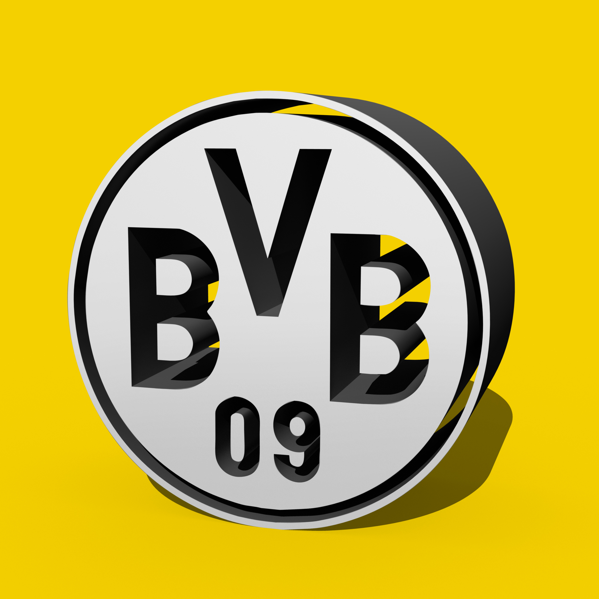 borussia dortmund 3d logo by drifter765 on deviantart. Black Bedroom Furniture Sets. Home Design Ideas