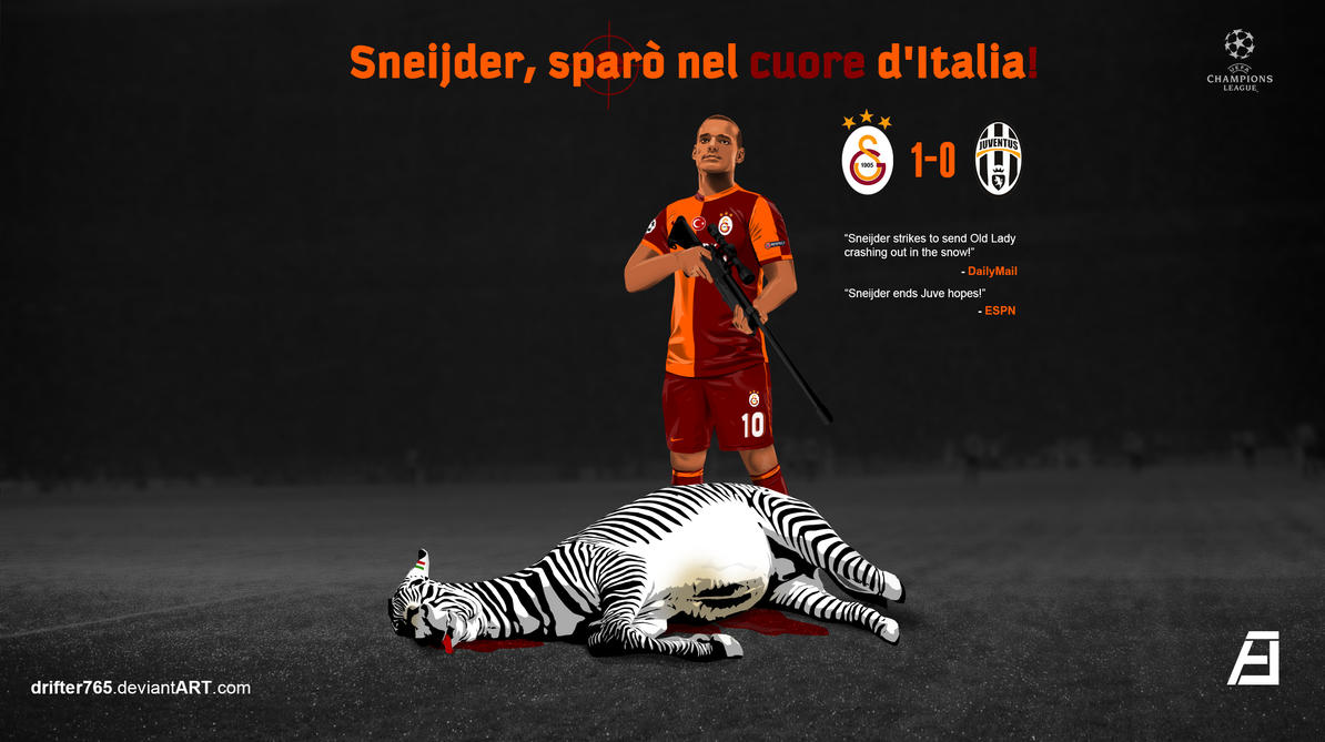 Sneijder crashed Juventus in the snow! by drifter765