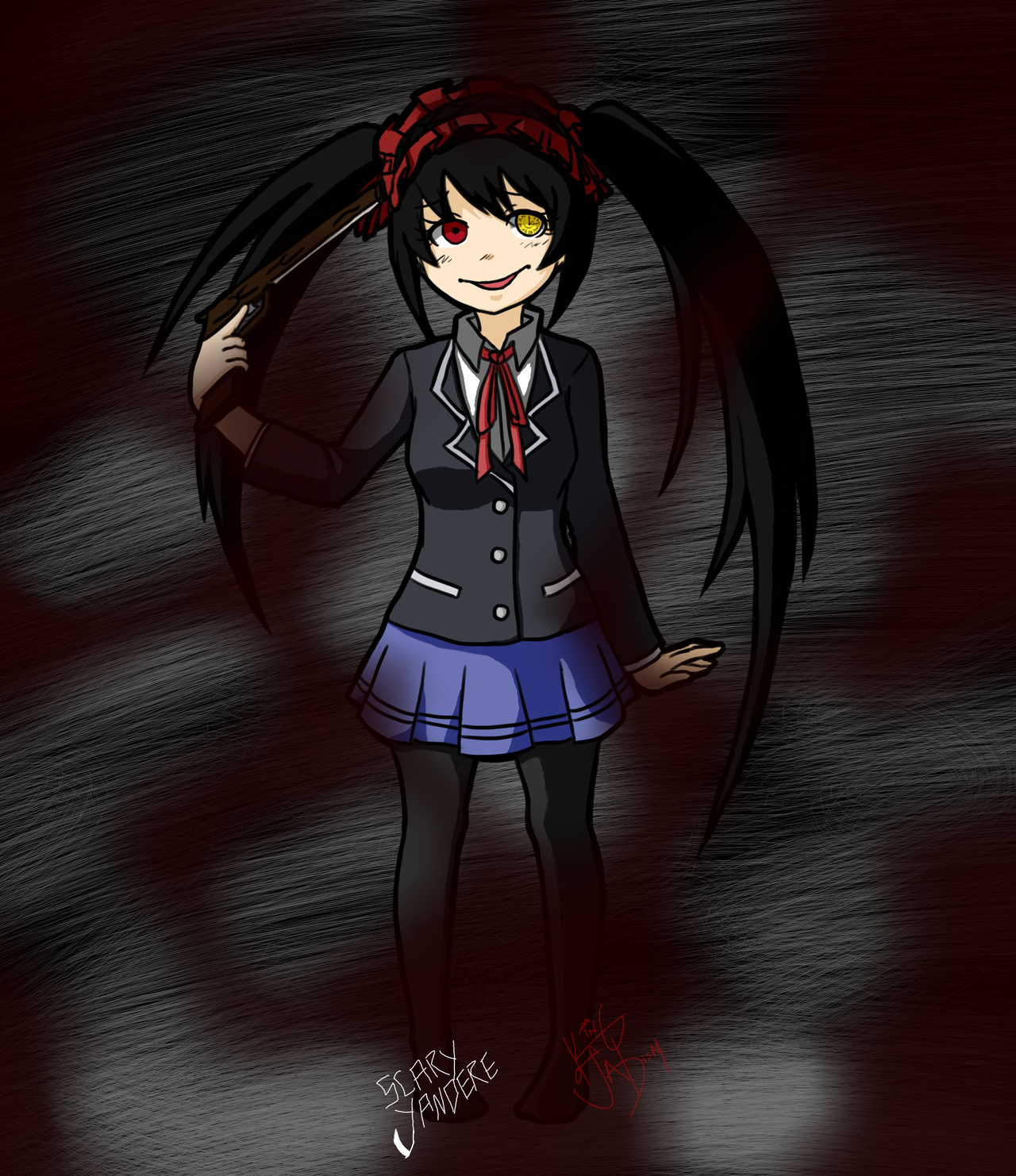 distorted nightmare kurumi tokisaki by scary yandere on distorted nightmare kurumi tokisaki by scary yandere