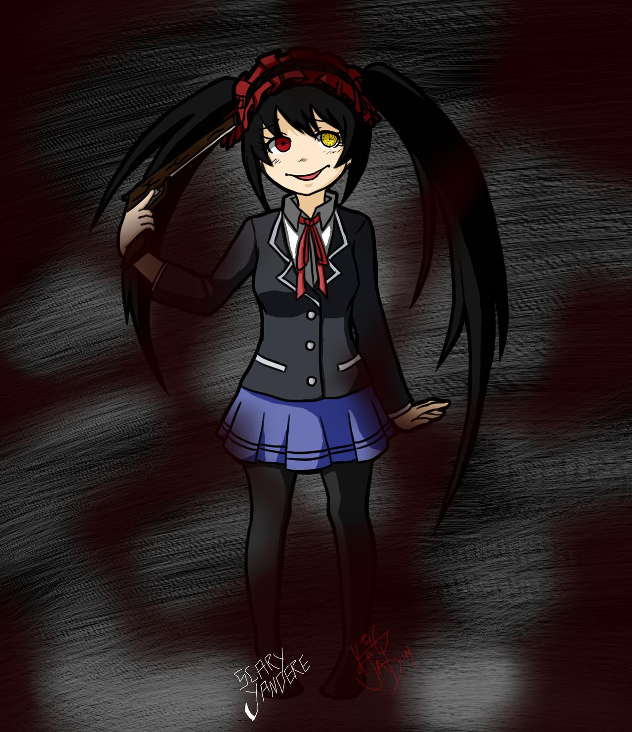 distorted nightmare kurumi tokisaki by scary yandere on distorted nightmare kurumi tokisaki by scary yandere