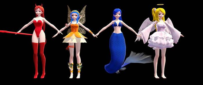 (MMD) Fairy Tail- Girls [No DL]