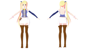 (MMD) Fairy Tail - Lucy Heartfilia Ver.3 NEW DL by Fghostly